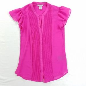 H&M hot pink top blouse shirt